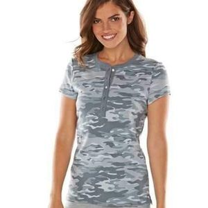 🔑 CHAPS | Women's Chaps Tops Camouflage Henley
